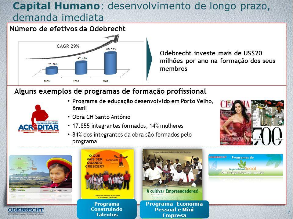 Capital Humano: desenvolvimento de longo prazo, demanda imediata