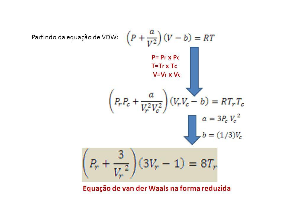 Equação de van der Waals na forma reduzida