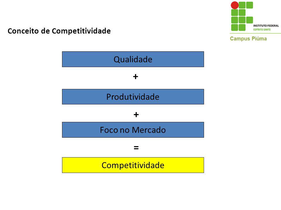 + + = Qualidade Produtividade Foco no Mercado Competitividade