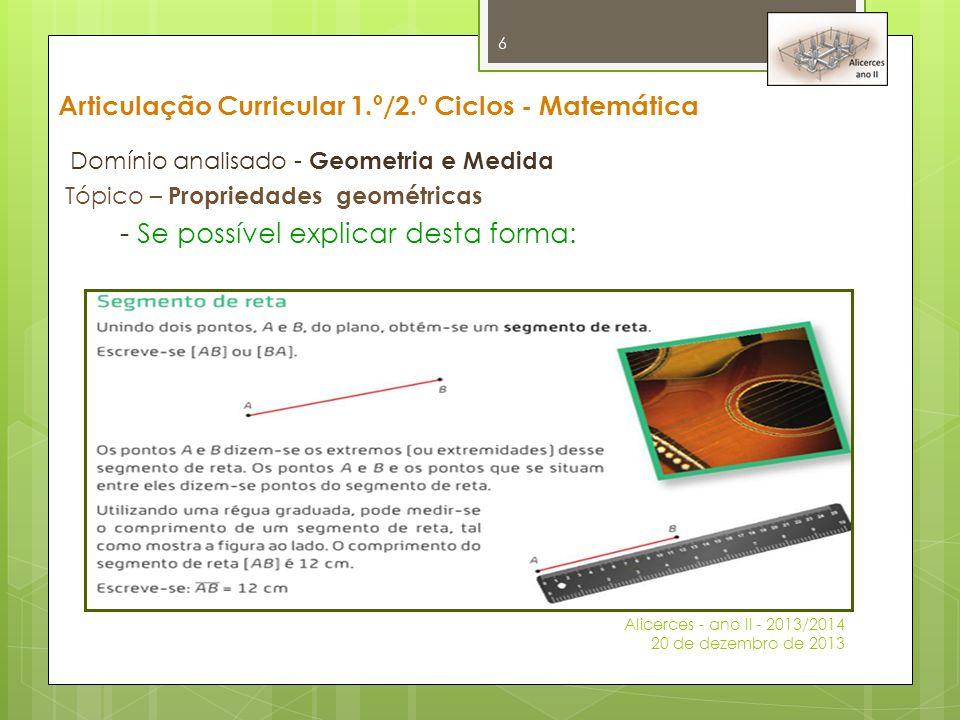 Articulação Curricular 1.º/2.º Ciclos - Matemática