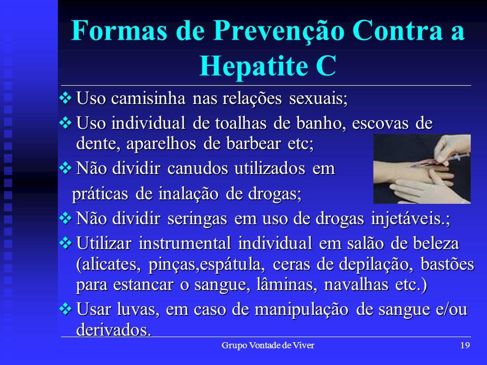 Formas de Prevenção Contra a Hepatite C