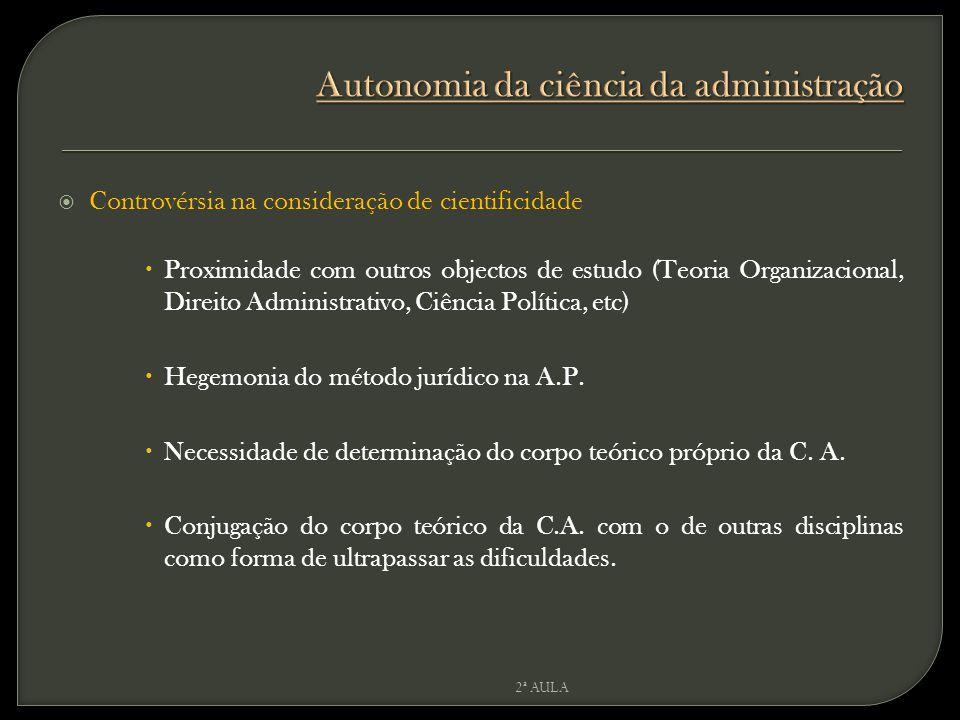 Autonomia da ciência da administração