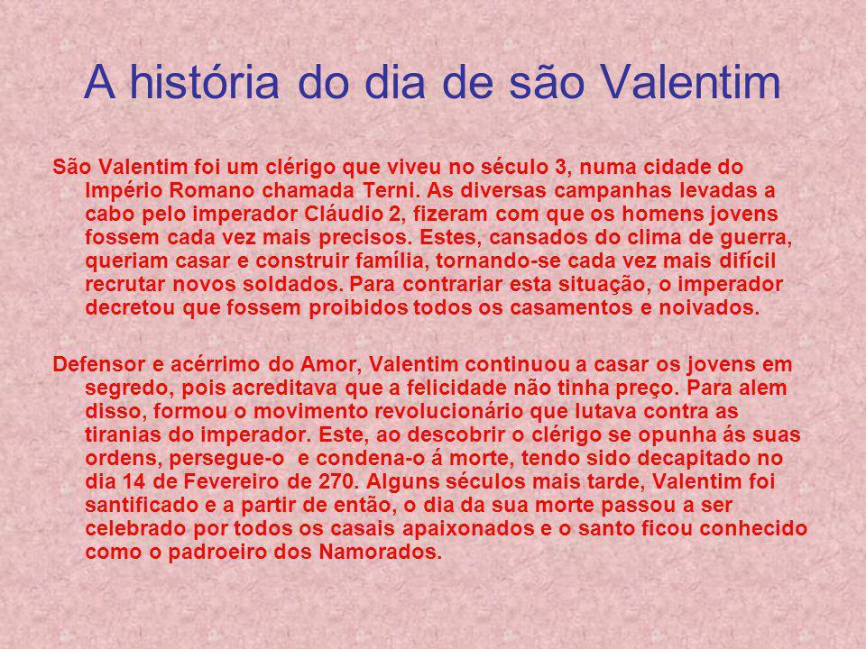 A história do dia de são Valentim