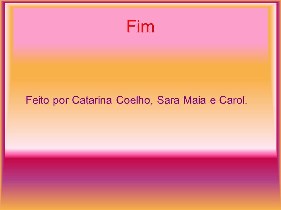 Fim Feito por Catarina Coelho, Sara Maia e Carol.