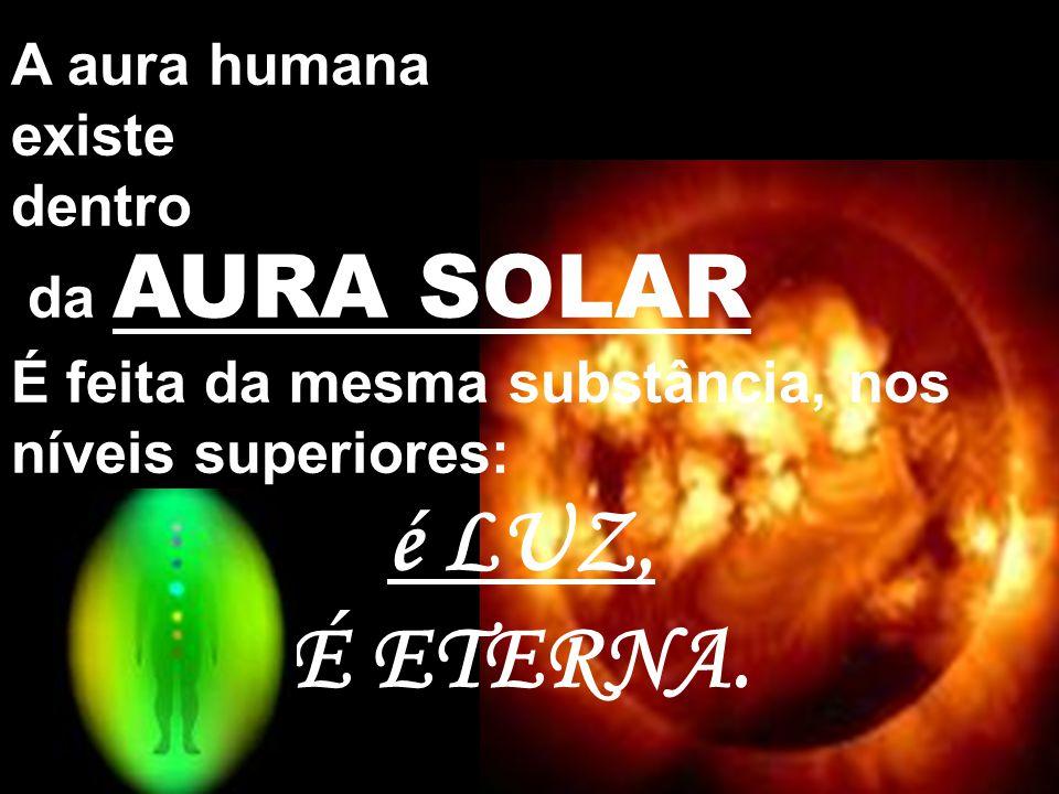 É ETERNA. A aura humana existe dentro da AURA SOLAR