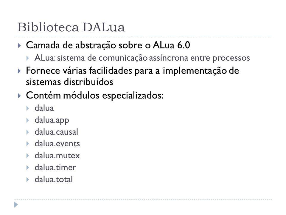 Biblioteca DALua Camada de abstração sobre o ALua 6.0