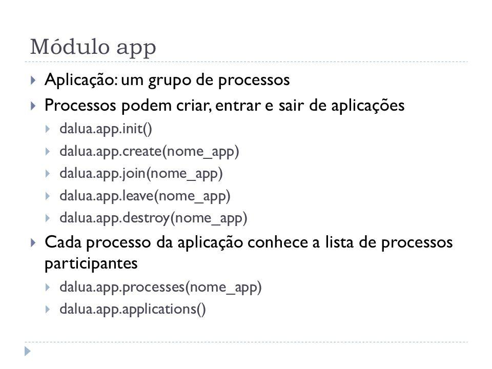 Módulo app Aplicação: um grupo de processos