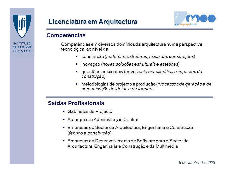 Licenciatura em Arquitectura