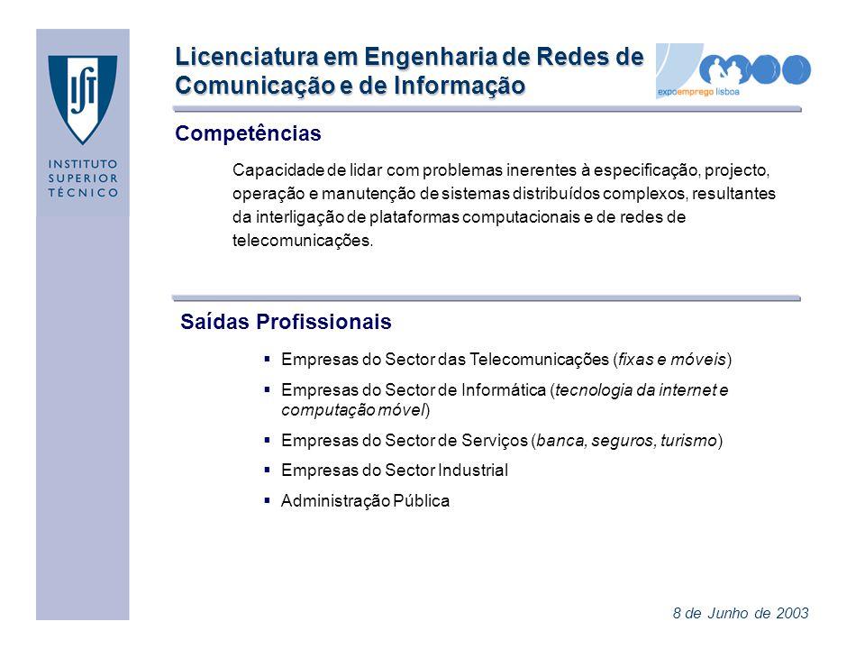Licenciatura em Engenharia de Redes de Comunicação e de Informação