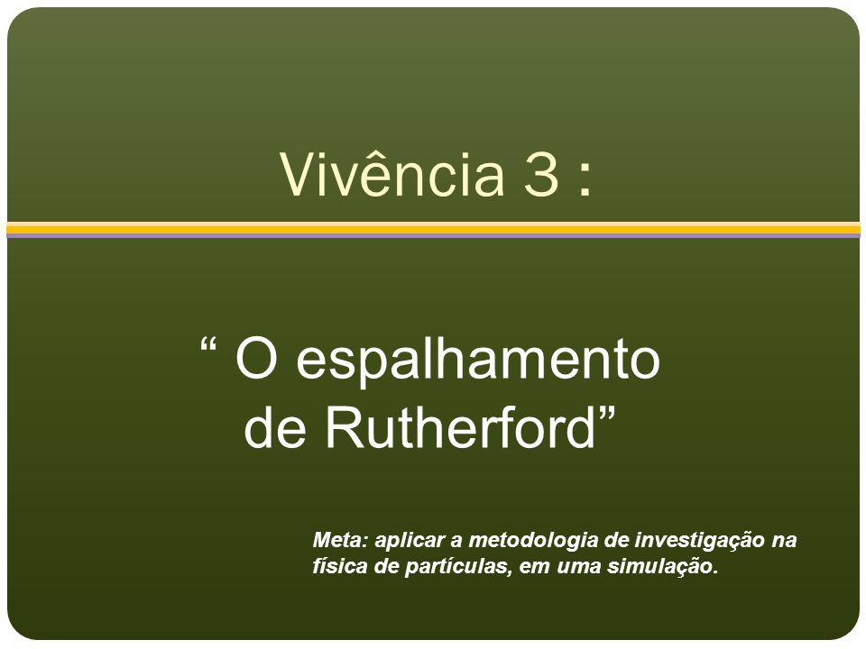 Vivência 3 : O espalhamento de Rutherford