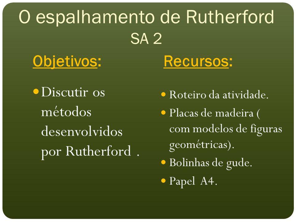 O espalhamento de Rutherford SA 2