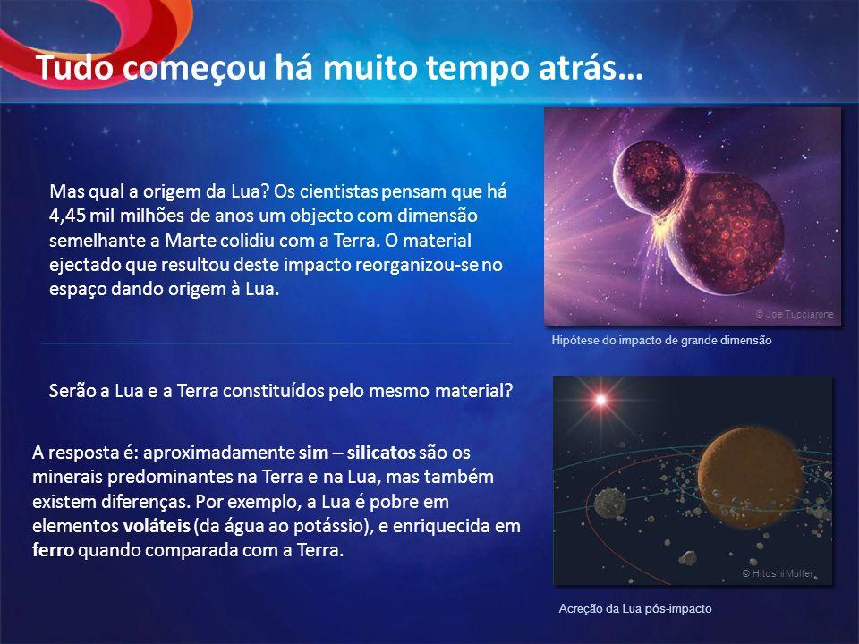 Serão a Lua e a Terra constituídos pelo mesmo material