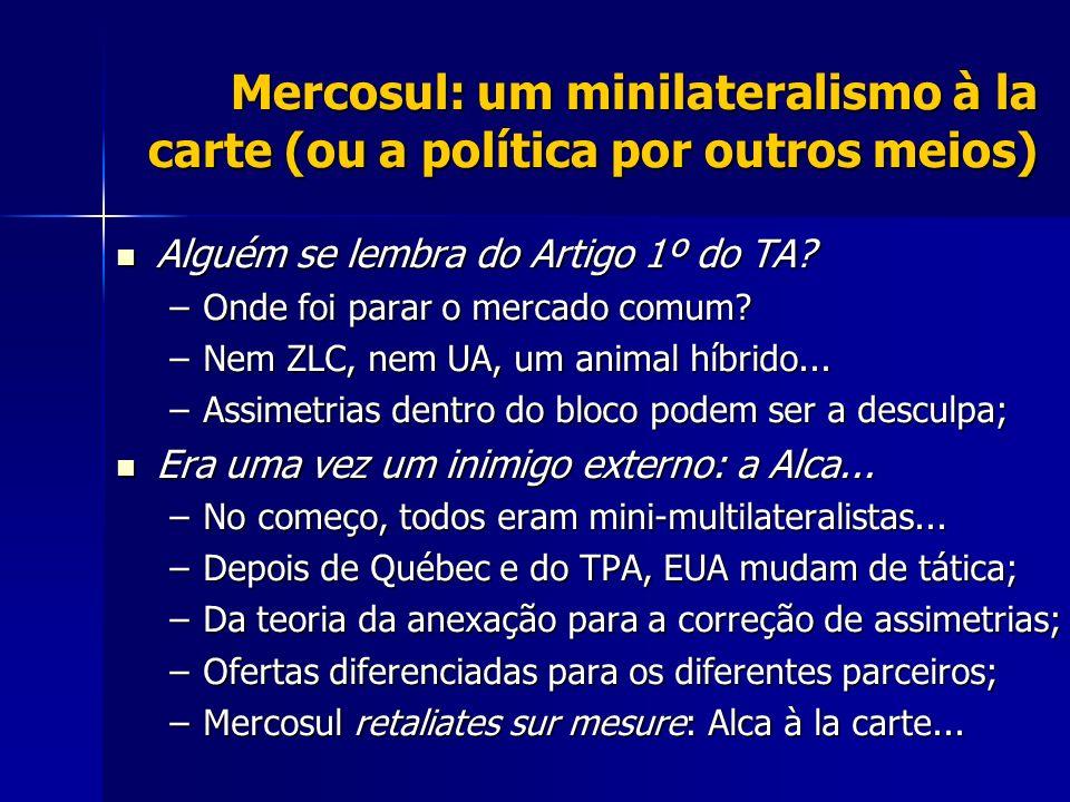Mercosul: um minilateralismo à la carte (ou a política por outros meios)