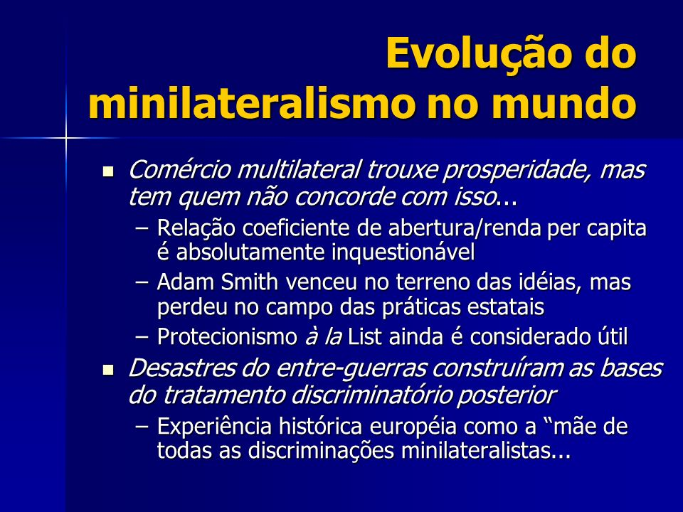 Evolução do minilateralismo no mundo