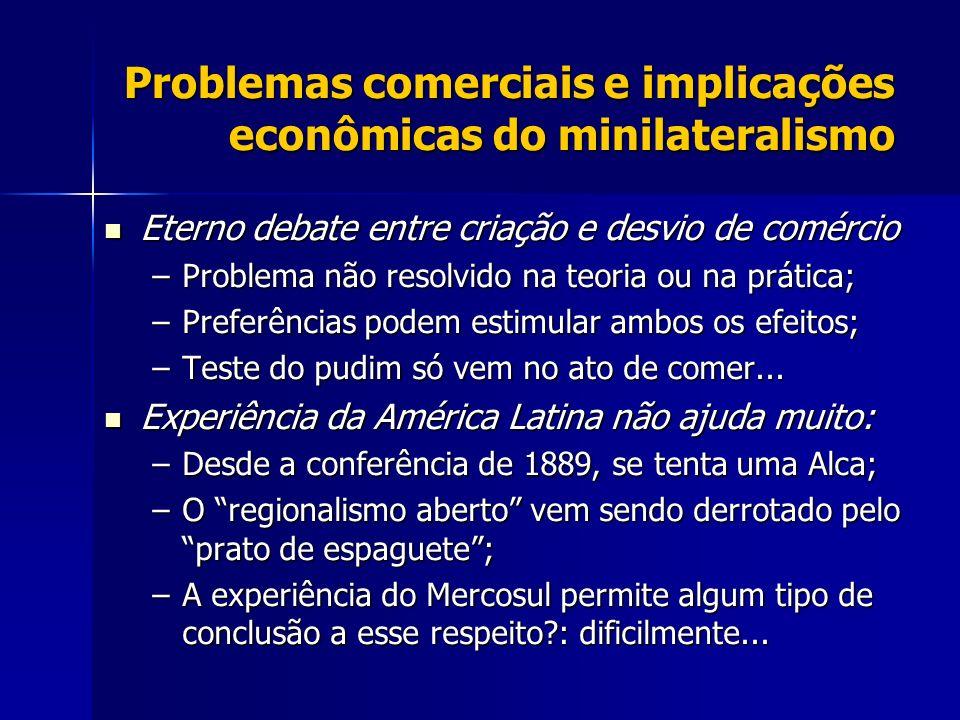 Problemas comerciais e implicações econômicas do minilateralismo