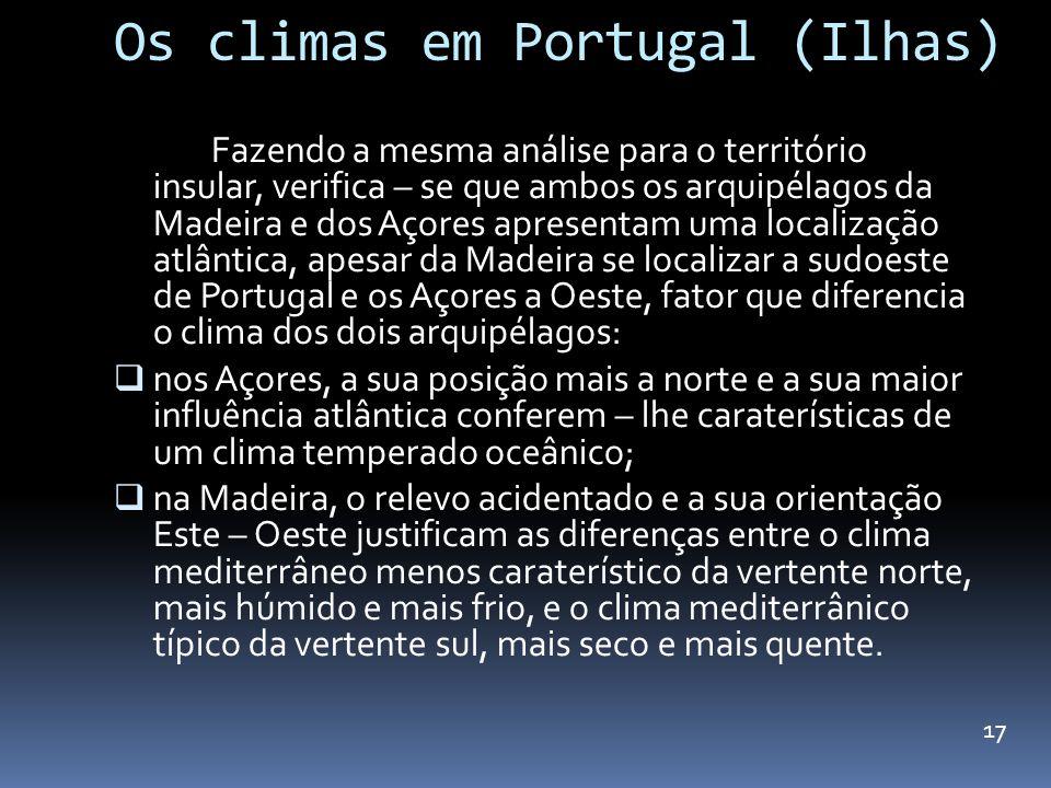 Os climas em Portugal (Ilhas)