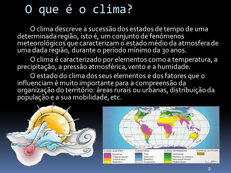 O que é o clima