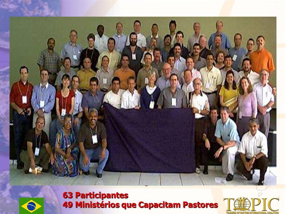 Anápolis, GO, Brasil 21- 24 agosto 2001 63 Participantes 49 Ministérios que Capacitam Pastores