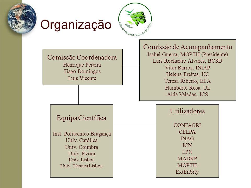 Organização Comissão de Acompanhamento Comissão Coordenadora