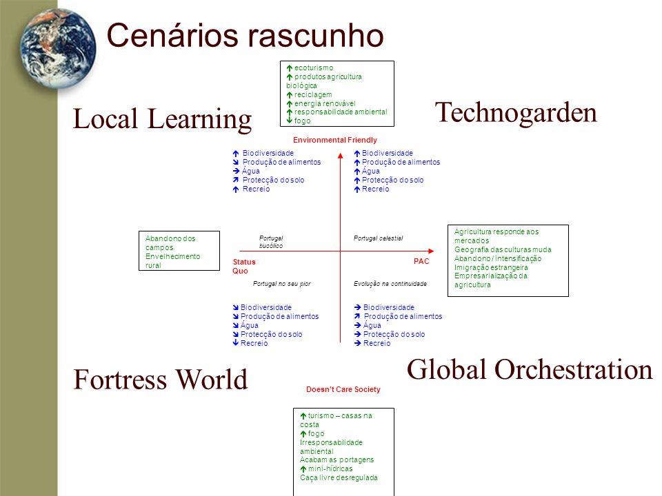 Cenários rascunho Technogarden Local Learning Global Orchestration