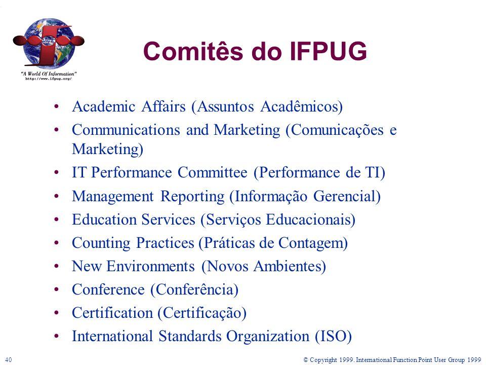 Comitês do IFPUG Academic Affairs (Assuntos Acadêmicos)