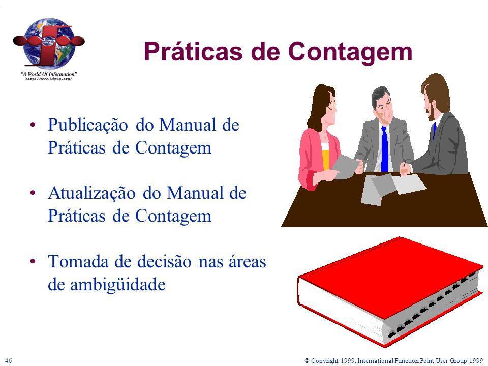 Práticas de Contagem Publicação do Manual de Práticas de Contagem