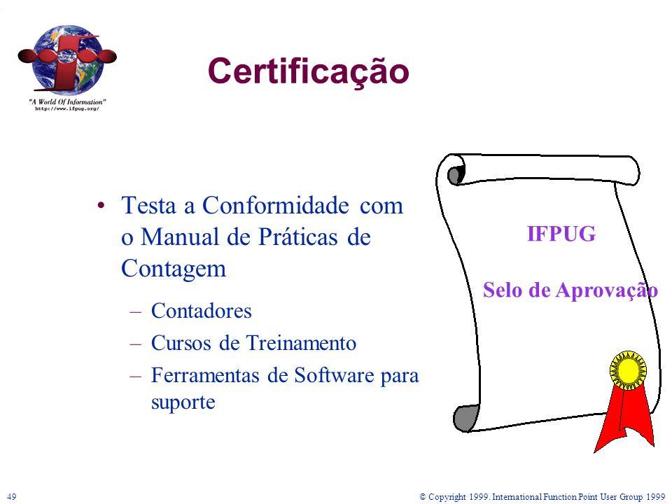 Certificação Testa a Conformidade com o Manual de Práticas de Contagem