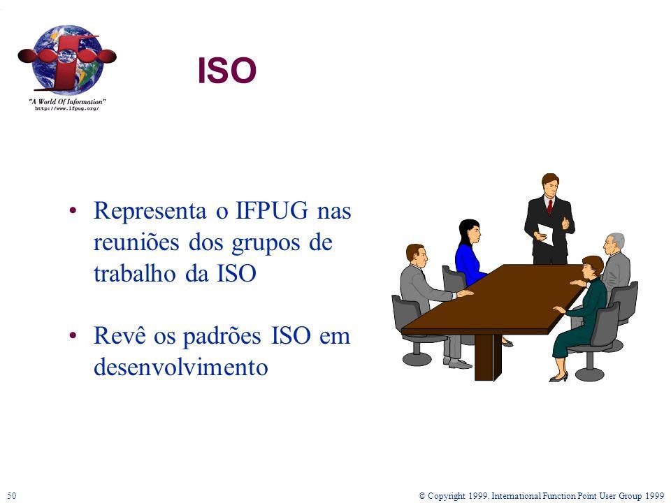 ISO Representa o IFPUG nas reuniões dos grupos de trabalho da ISO