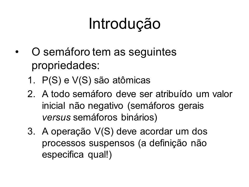 Introdução O semáforo tem as seguintes propriedades: