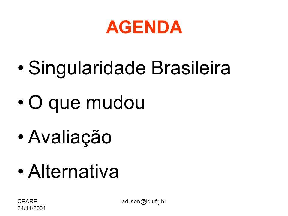 Singularidade Brasileira O que mudou Avaliação Alternativa