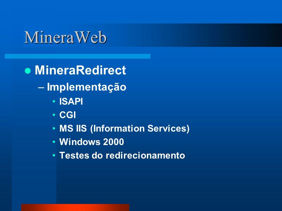 MineraWeb MineraRedirect Implementação ISAPI CGI