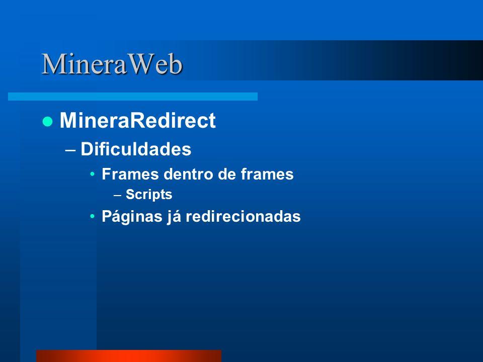 MineraWeb MineraRedirect Dificuldades Frames dentro de frames