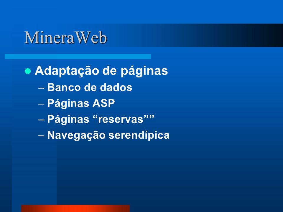 MineraWeb Adaptação de páginas Banco de dados Páginas ASP