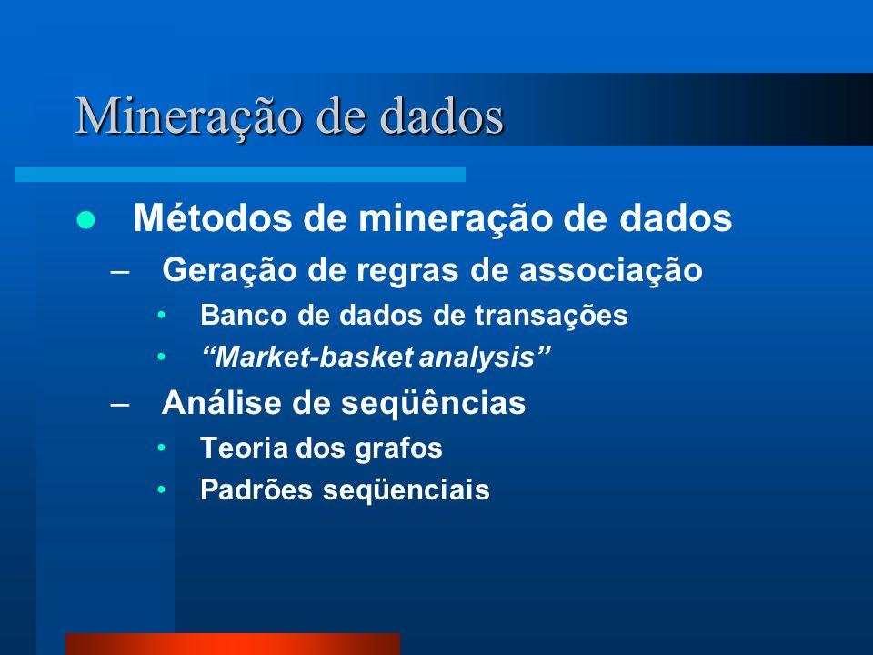 Mineração de dados Métodos de mineração de dados