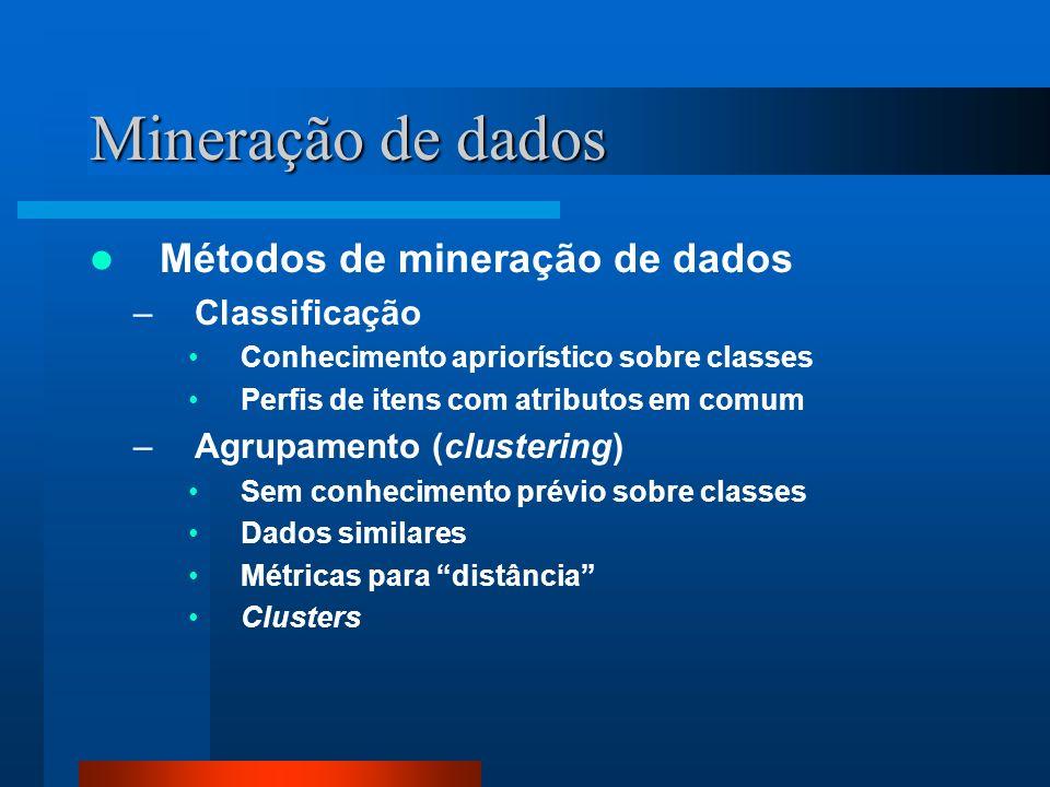 Mineração de dados Métodos de mineração de dados Classificação