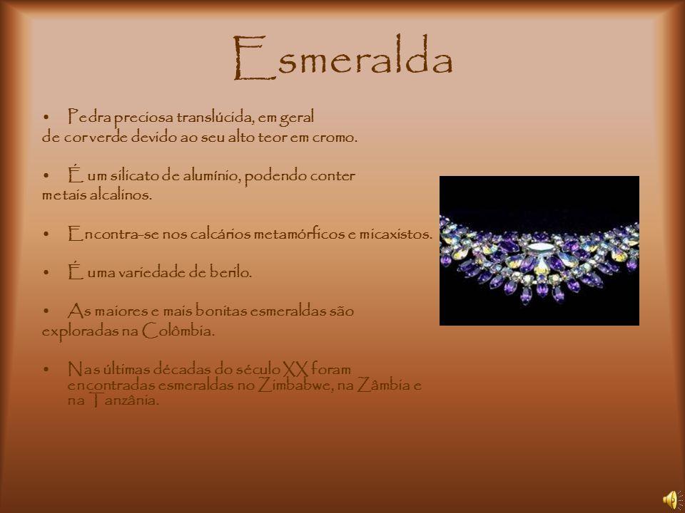 Esmeralda Pedra preciosa translúcida, em geral