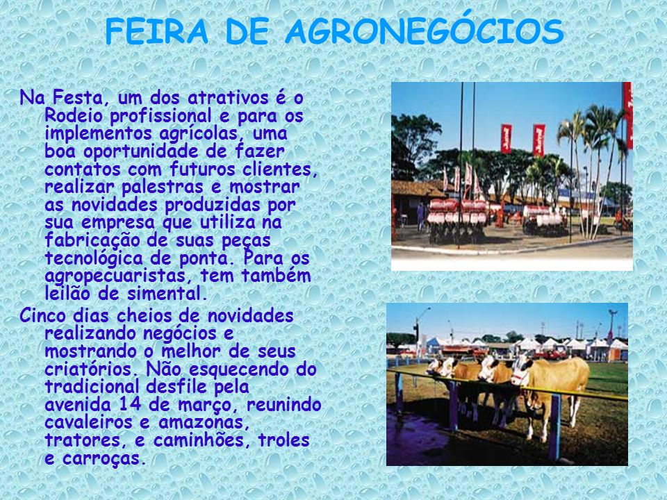 FEIRA DE AGRONEGÓCIOS