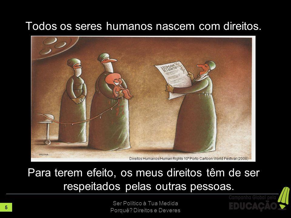 Todos os seres humanos nascem com direitos.