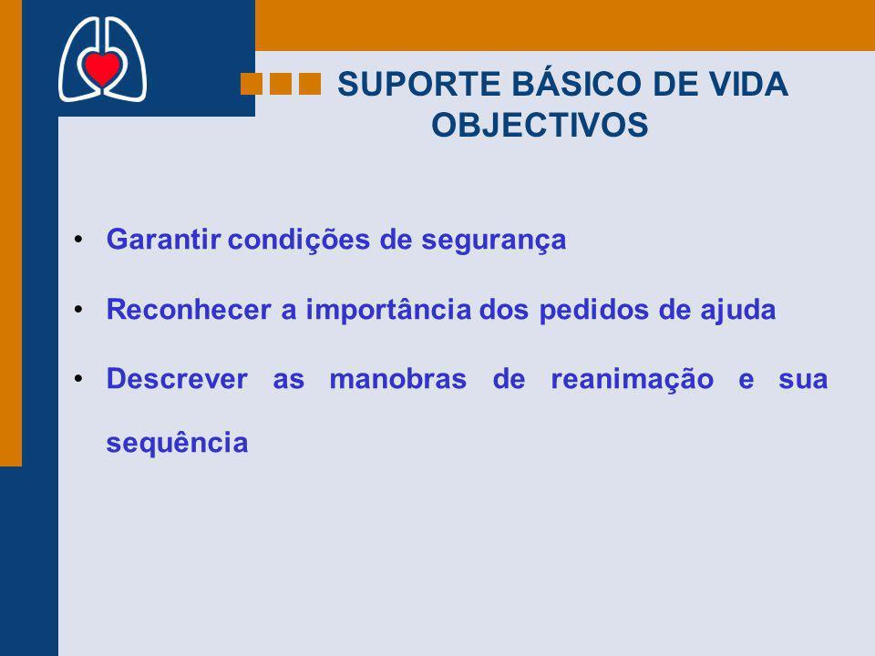 SUPORTE BÁSICO DE VIDA OBJECTIVOS