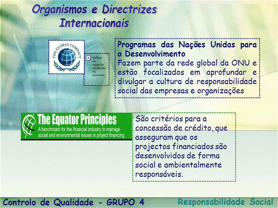 Organismos e Directrizes