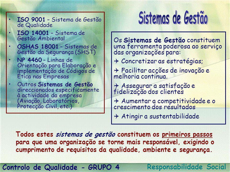 Sistemas de Gestão Controlo de Qualidade - GRUPO 4