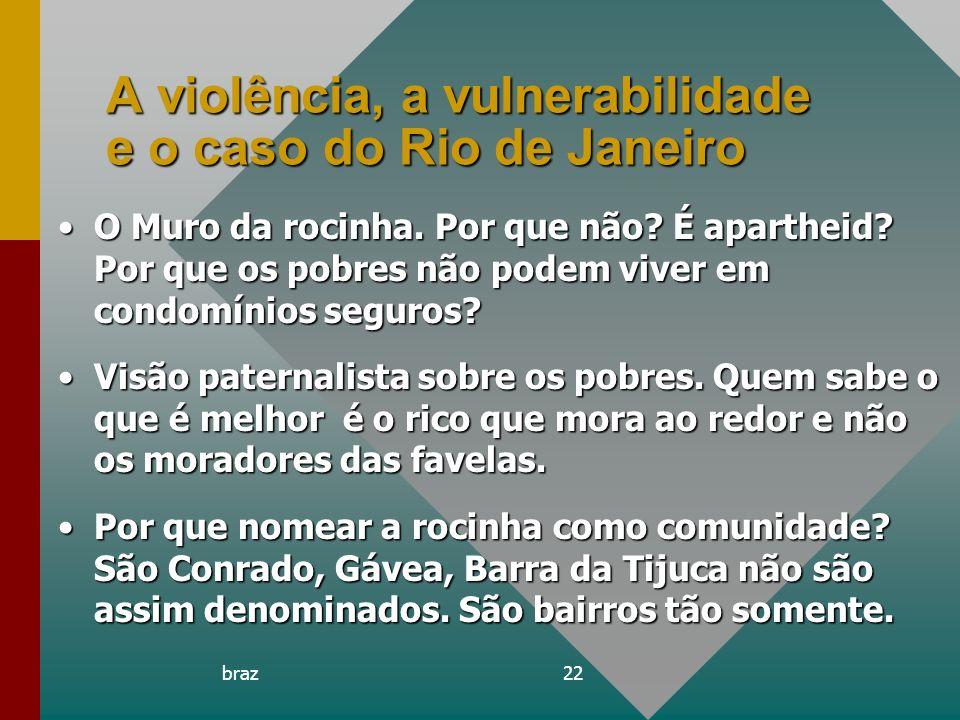 A violência, a vulnerabilidade e o caso do Rio de Janeiro
