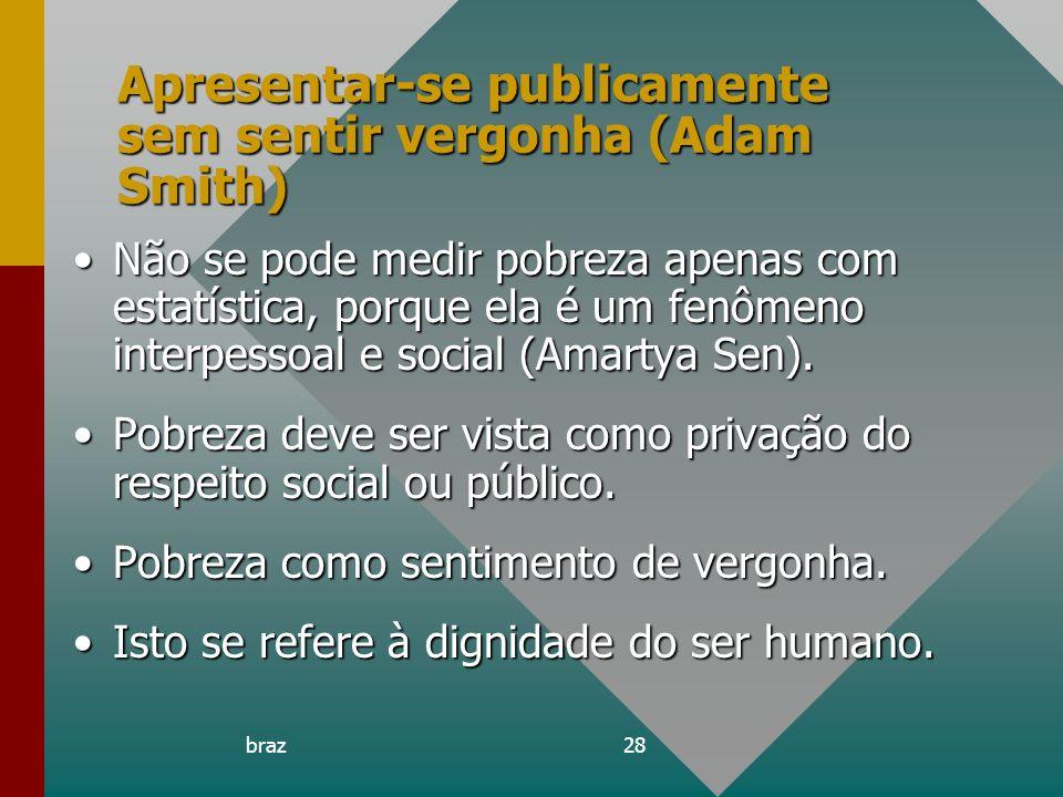 Apresentar-se publicamente sem sentir vergonha (Adam Smith)