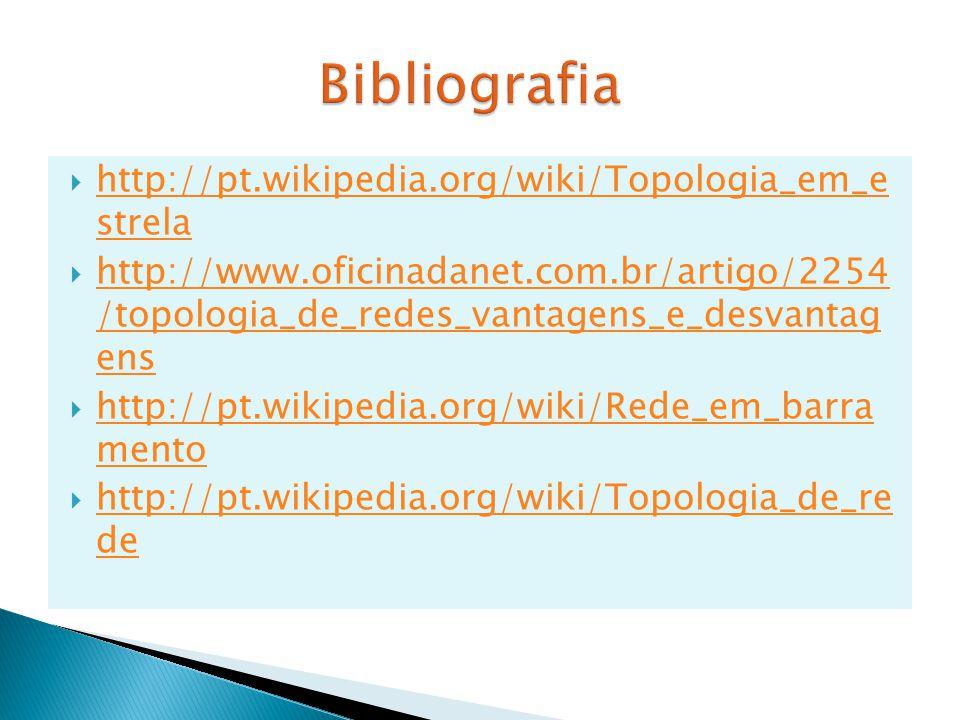 Bibliografia http://pt.wikipedia.org/wiki/Topologia_em_e strela