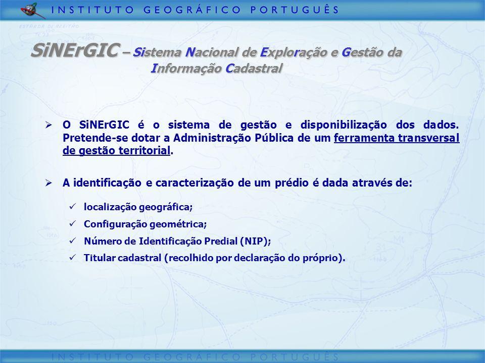 SiNErGIC – Sistema Nacional de Exploração e Gestão da Informação Cadastral