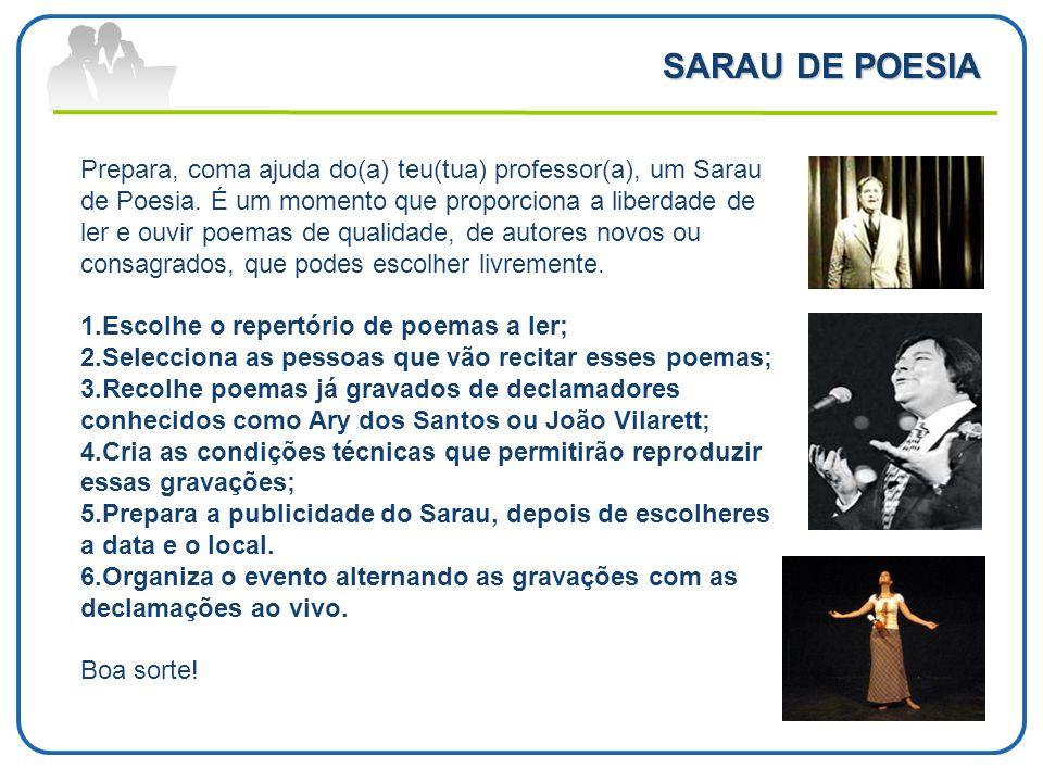 SARAU DE POESIA