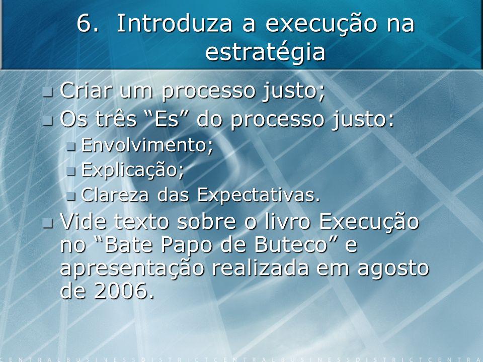 Introduza a execução na estratégia