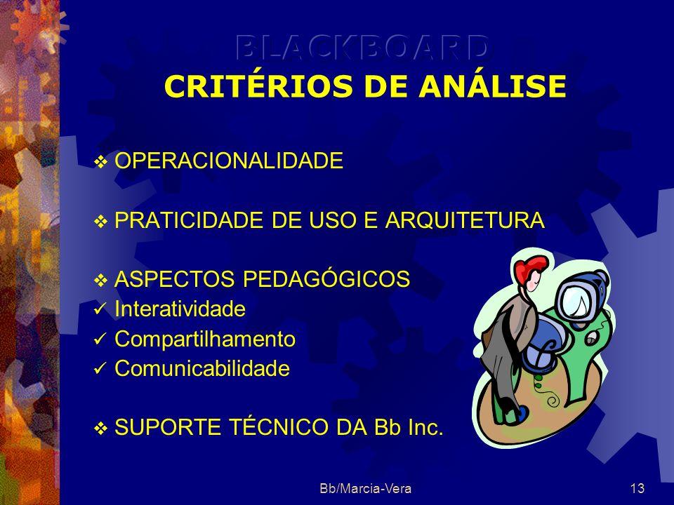 BLACKBOARD CRITÉRIOS DE ANÁLISE