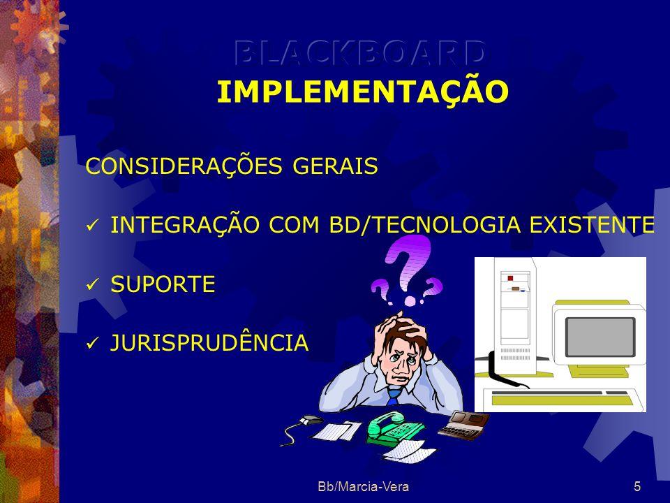 BLACKBOARD IMPLEMENTAÇÃO