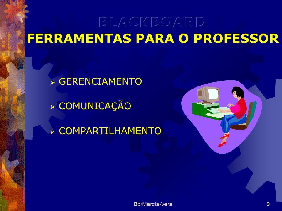 BLACKBOARD FERRAMENTAS PARA O PROFESSOR